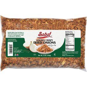Sadaf Fried Onions Golden Crispy 12×16 oz.