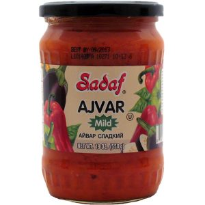 Sadaf Ajvar | Mild Red Pepper Spread – 12×19 oz.