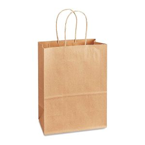 NatureBag® Grouse – Takeout Kraft Paper Bag with Twisted Handle – 200 PCS/PACK