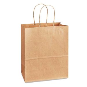 NatureBag® Seymour – Takeout Kraft Paper Bag with Twisted Handle – 150 PCS/PACK