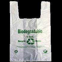 KKW Bio Eco.T-Shirt Bag 8.75″+5″x17″ (S) 15mic 3000/cs