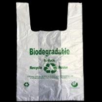 Bio Eco T-Shirt Bag 12″+7″x23″ (L) 18mic 1000/cs